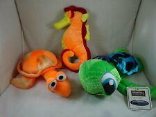 Ideal Toy Big Eyed Turtle plush B J Toys Sea Horse Bug Eyed Turtle Plush 3 toys