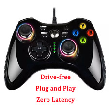 Black USB Gamepad Computer Wired Vibration Steam TV Projection PS3 Driver-free