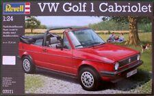 KIT REVELL 1:24 AUTO DA MONTARE VW GOLF 1 CABRIOLET  LUNGHEZZA 15,4 CM ART 07071