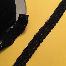 3m Black Nylon 20mm  Elasticated Lace #1062