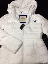 NWT Hollister white puffer jacket womens large