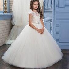 Communion White/Ivory Prom Princess Pageant Bridesmaid Wedding Flower Girl Dress