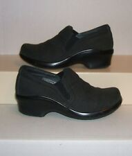 ARIAT Women's Charcoal Leather Wedge Platform Casual Clogs Loafers 6.5 B / 36.5