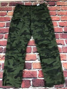 32x31 G-STAR RAW Rovic Loose Tapered Cargo Camo Military Army Twill Jeans Pants