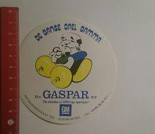 Aufkleber/Sticker: De Gansa Opel Gamma Gaspar Gm (021116112)