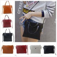 Women Leather Shoulder Bag Casual Handbag Large Tote Lady Satchel Hobo Bag Purse