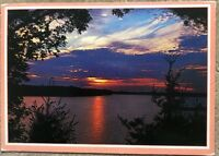 Vintage Postcard Beautiful Sunset In The Pacific Northwest, Washington
