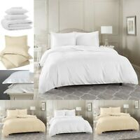 400 THREAD COUNT PLAIN DUVET COVER SETS 100% EGYPTIAN COTTON WITH PILLOWCASES