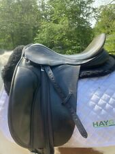 """County Saddlery Connection Black 17.5"""" Equestrian Saddle"""