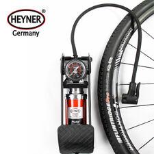 Powerful foot air pump gauge 7 BAR 100 PSI solid car bike tyre inflator HEYNER