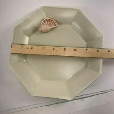 """Vintage Fitz And Floyd Bisque Sea Shell Octagon 8 5/8"""" Plate"""