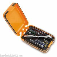 Beta Tools Italy Compact Ratchet & Mixed Screwdriver Driver Bit Set With Case