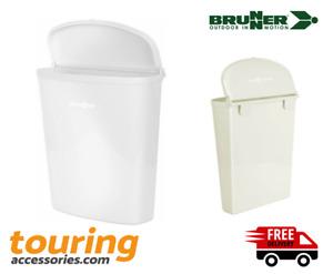 Motorhome Caravan Brunner Pillar Hanging Door Waste Bin 5.5l WHITE