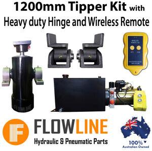 Tipper Trailer Kit- 1200 mm - Hydraulic Ram / Cylinder with Hydraulic Power pack