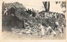 MANCHESTER, CT, COCA-COLA TRUCK ACCIDENT, JOHN KNOLL REAL PHOTO PC c 1910-20