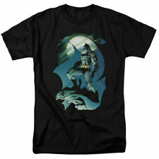 Batman Glow Of The Moon T Shirt Licensed Comic Book Tee Black