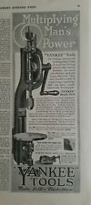 1918 Yankee bench drill antique tool multiply Man's power ad