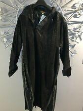 New listing Vintage New 80s Roberta Dusio Italy Black Suede Straight Chemise Sack Dress 44