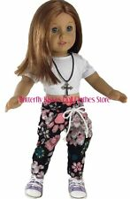 Hip Hop Dance Set Top,Pant,Necklace Fits 18 in American Girl Doll Clothes