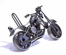 MODELLINO DA COLLEZIONE MOTO MOTORBIKE MOTORCICLE IN METALLO BLACK SILVER