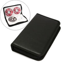 80 Pcs CD DVD VCD Disc Holder Album Portable Wallet Storage Case Carry Bag Balck