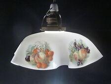Küchenlampe alt, Lampenschirm - Milchglas, mit alter Fassung, neues Textilkabel