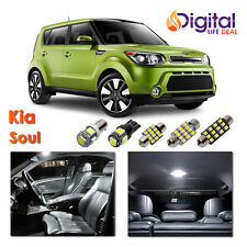 8 x White Interior LED Lights Package Kit for 2010 -2013 2014 2015 2016 Kia Soul