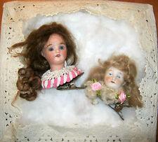 Lot 2 special antique doll head Christmas tree decoration/Germany Simon&Halbig