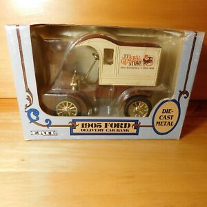 ERTL 1905 FORD DELIVERY TRUCK BANK JT's GENERAL STORE 1/25 SCALE #9674