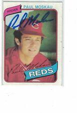1980 Topps Paul Moskau Cincinnati Reds Authentic Autograph COA