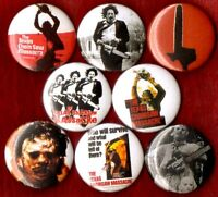 TEXAS CHAINSAW MASSACRE 8 NEW button pin badge RIP TOBE HOOPER horror Leatherfac
