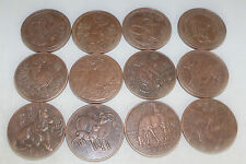 12 pcs Chinese 12 Zodiac Red copper Commemorative coins Coin