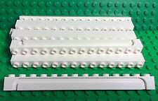 Lego X10 Pieces 1x14 White Brick With Groove / City Garage Sliding Roller Parts