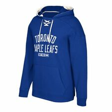 NHL CCM Team Logo Vintage Classic Lace-Up Pullover Hoodie Collection Men's