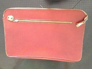 Leather Cheney Vintage Documents attache portfolio case brown zipped