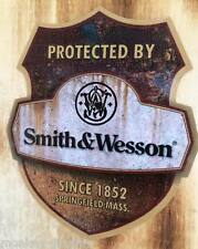 New rusty smith & wesson protected rythm advertencia Pegatina Sticker auto EE. UU.