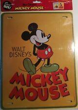 TARGA DA COLLEZIONE VINTAGE  in metallo Disney TOPOLINO MICKEY MOUSE 33cm - 25cm