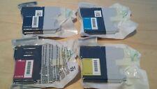 Genuine Brother LC1100HY Black, Cyan, Magenta, Yellow ink cartridges - 1100 HY