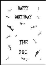 Novità Buon Compleanno Biglietto D'Auguri dal cane - 6-Own Design