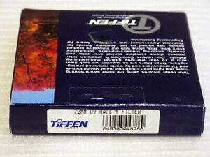 72mm - Tiffen UV HAZE 1 Filter  NEW                  #72m8 n2