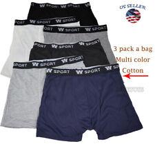 3 Pack Men's Cotton Underwear TAGless Boxer Briefs with Comfort Flex Waistband
