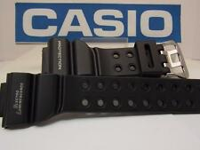 Casio Watch Band DW-8200 Frogman Black Strap White Graphics. Original Watchband