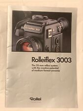 Rolleiflex 3003, Product Brochure, approx 1989