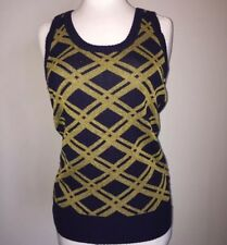 Marc by Marc Jacobs Sweater cashmere Metallic knit top size M Purple Gold