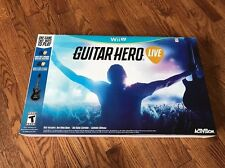 Guitar Hero Live Bundle (Nintendo Wii U, 2015) - Brand New