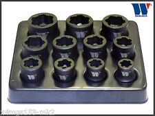 """werkzeug-anti skid absaugung steckschlüssel 11 teilig set, 8 - 19 mm - 3/8"""" laufwerk - 1085"""