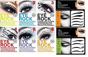 REUSEABLE CRYSTAL STICK ON EYE ROCKS OR TATTOOS FOR EYES 8 DIFFERENT SHADES