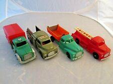 New Listing(4) Vintage 1950's Hubley Kiddie Toy Motor Express, Fire, Bell Tel & Dump Trucks