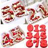 Number 0-9 Cake Mold Pan Silicone Baking Tin Birthday Anniversary Kitchen Tools