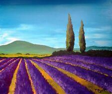 ORIGINAL ACRYLBILD - Lavendel in der Provence.